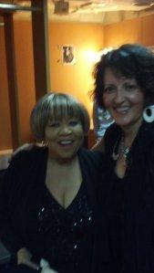 Kelley with Mavis Staples