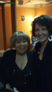 Kelley with Mavis Staples
